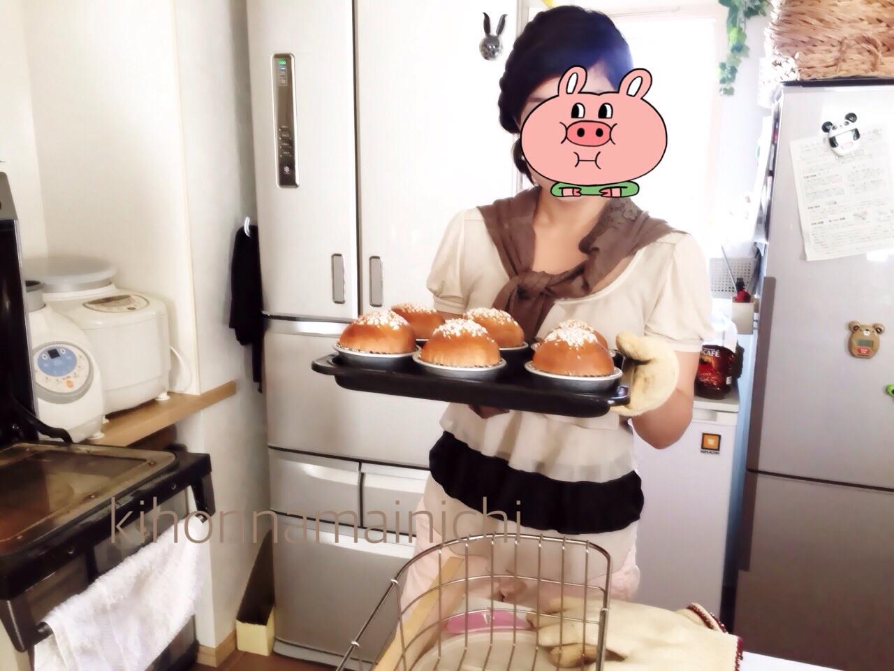 親子でパン教室♡