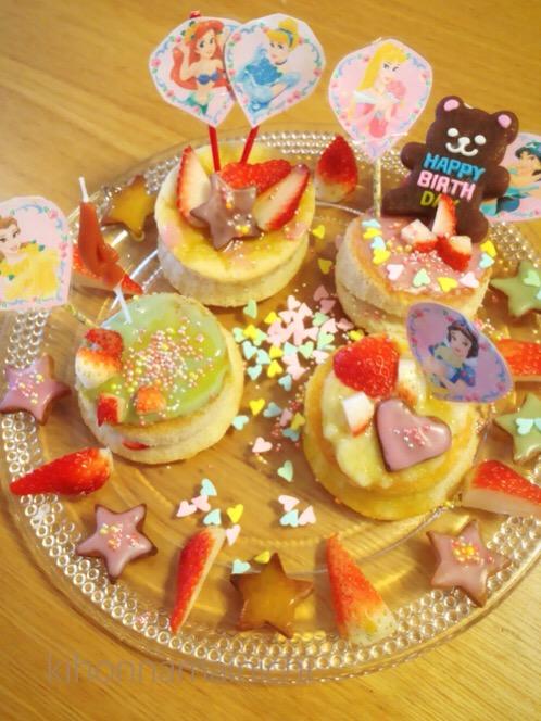 アレルギーっ子対応の手づくり誕生日ケーキプレート