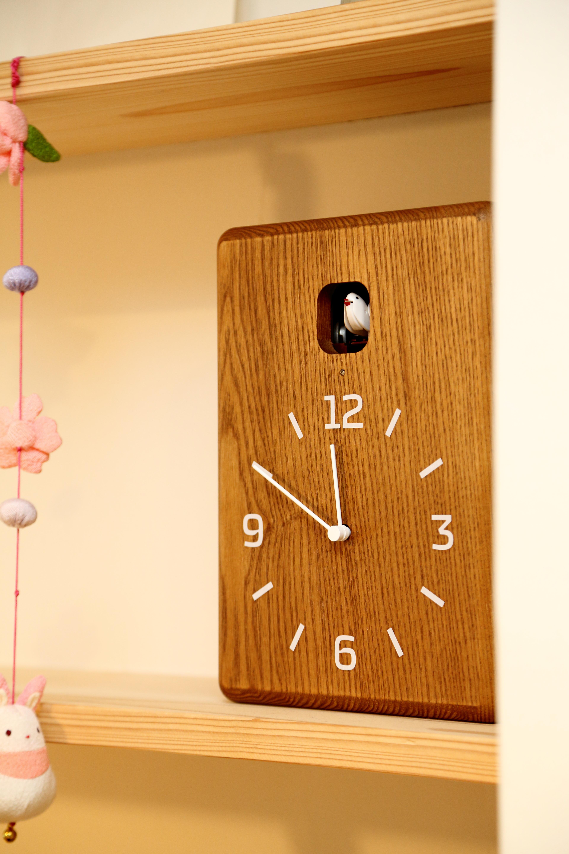 【レムノス 鳩時計】育脳?な子どもに人気の鳩時計!