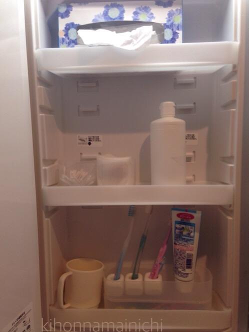 【洗面所鏡裏収納】100均で収納上手!無印そっくりさんのダイソー人気商品を使用