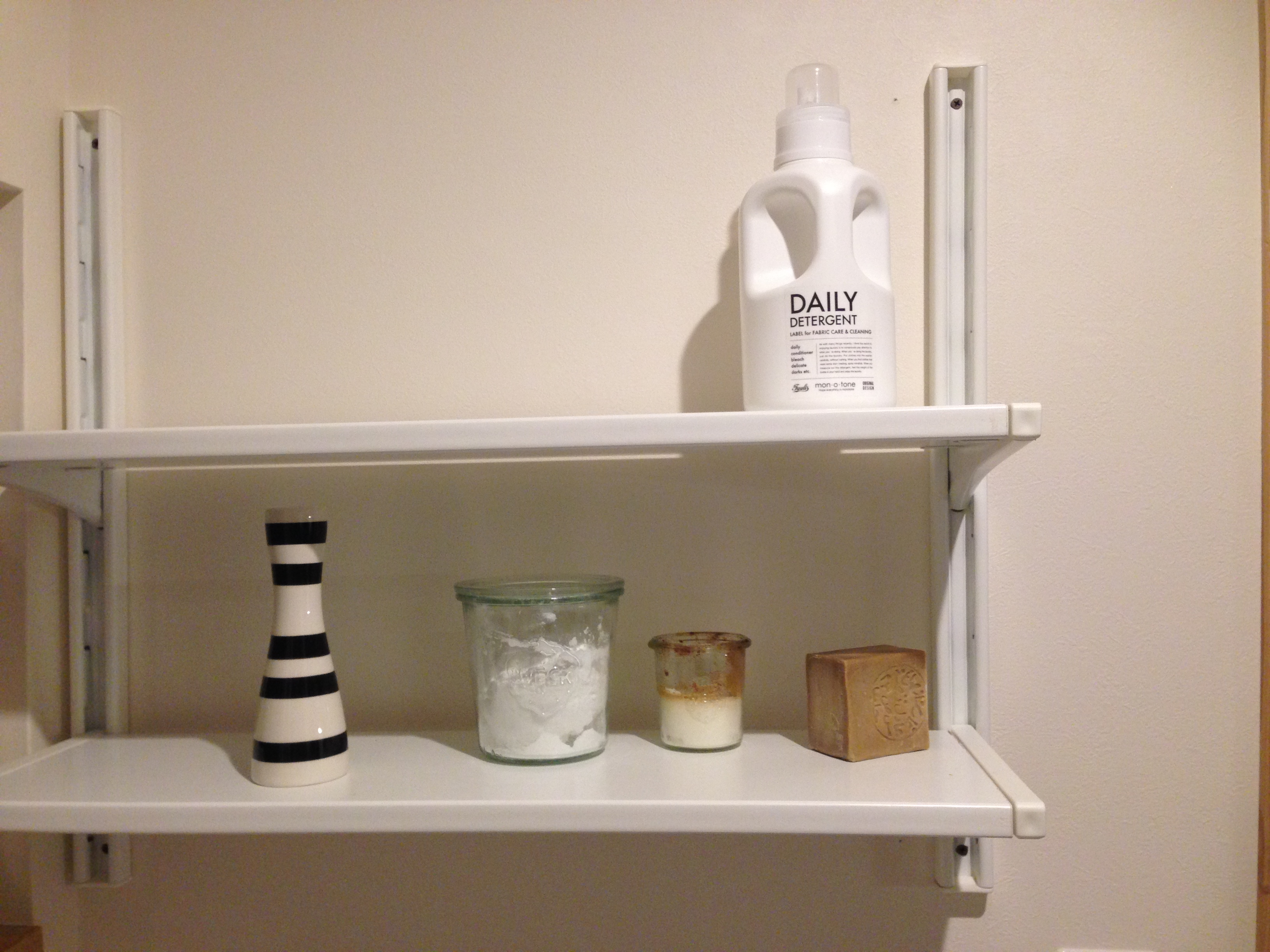 【洗濯機上収納】IKEA ALGOTシリーズの棚を取り付ける