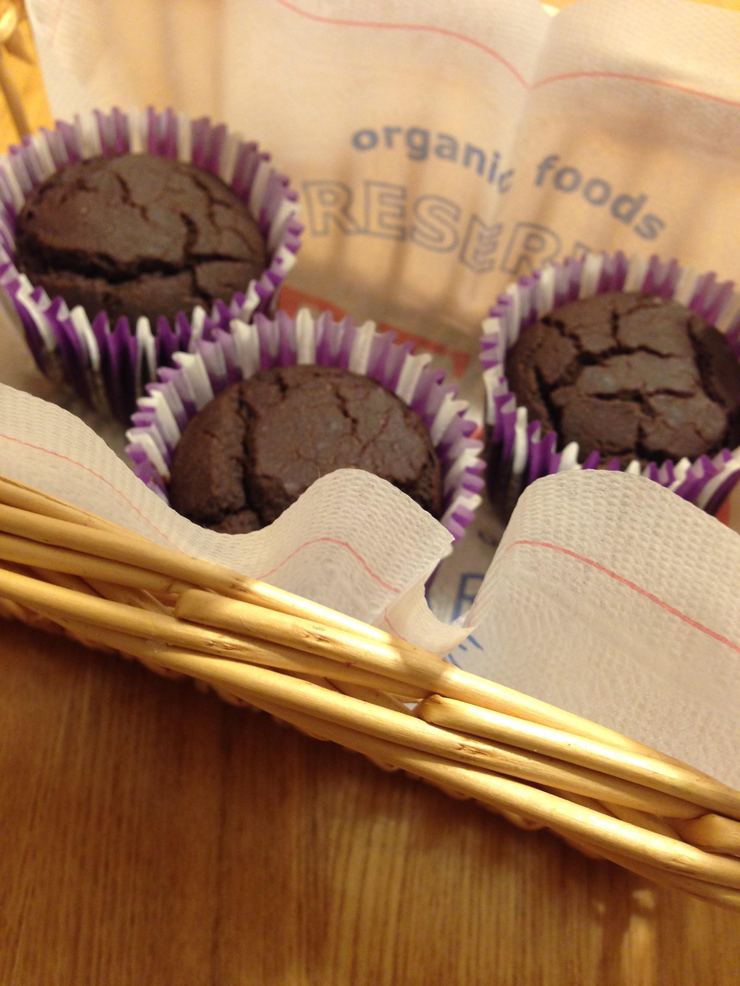 小麦・卵・乳不使用!アレルギーっ子対応。混ぜるだけ!米粉ココアカップケーキ