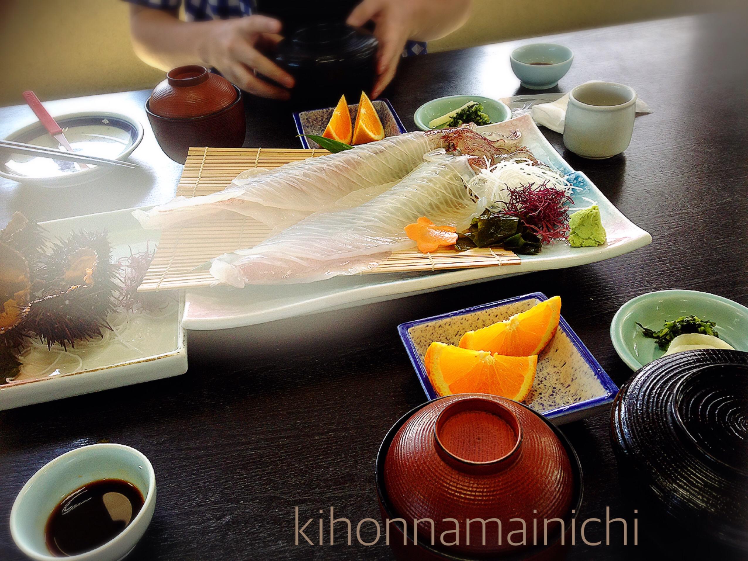 【活魚料理 かべしま】呼子のイカを食べるなら海もみながらごちそうになりたい。夏のドライブデートは海とイカ!
