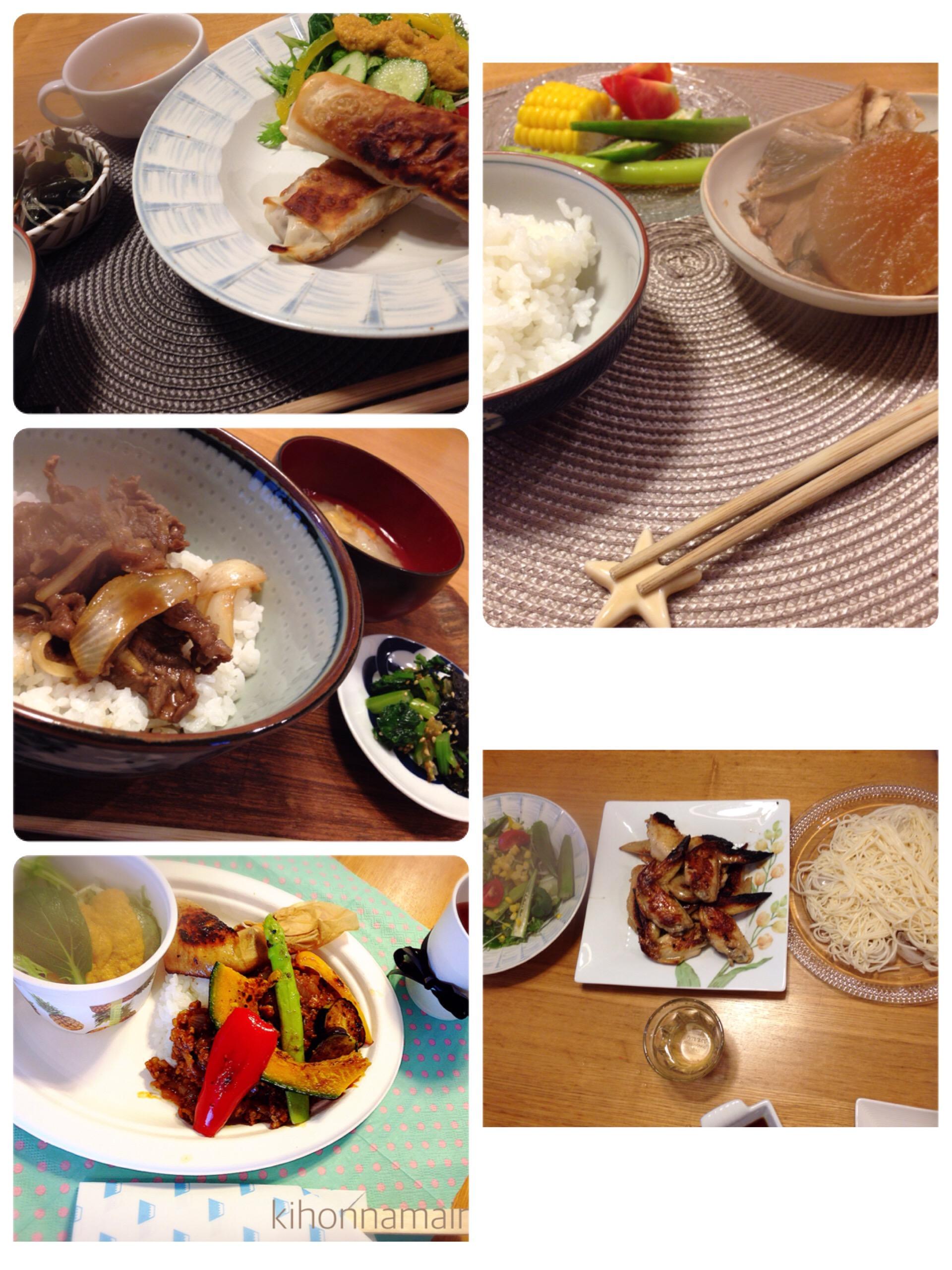 1週間献立!家族4人!夏は生野菜を美味しく食べたいっ!7/18~7/22