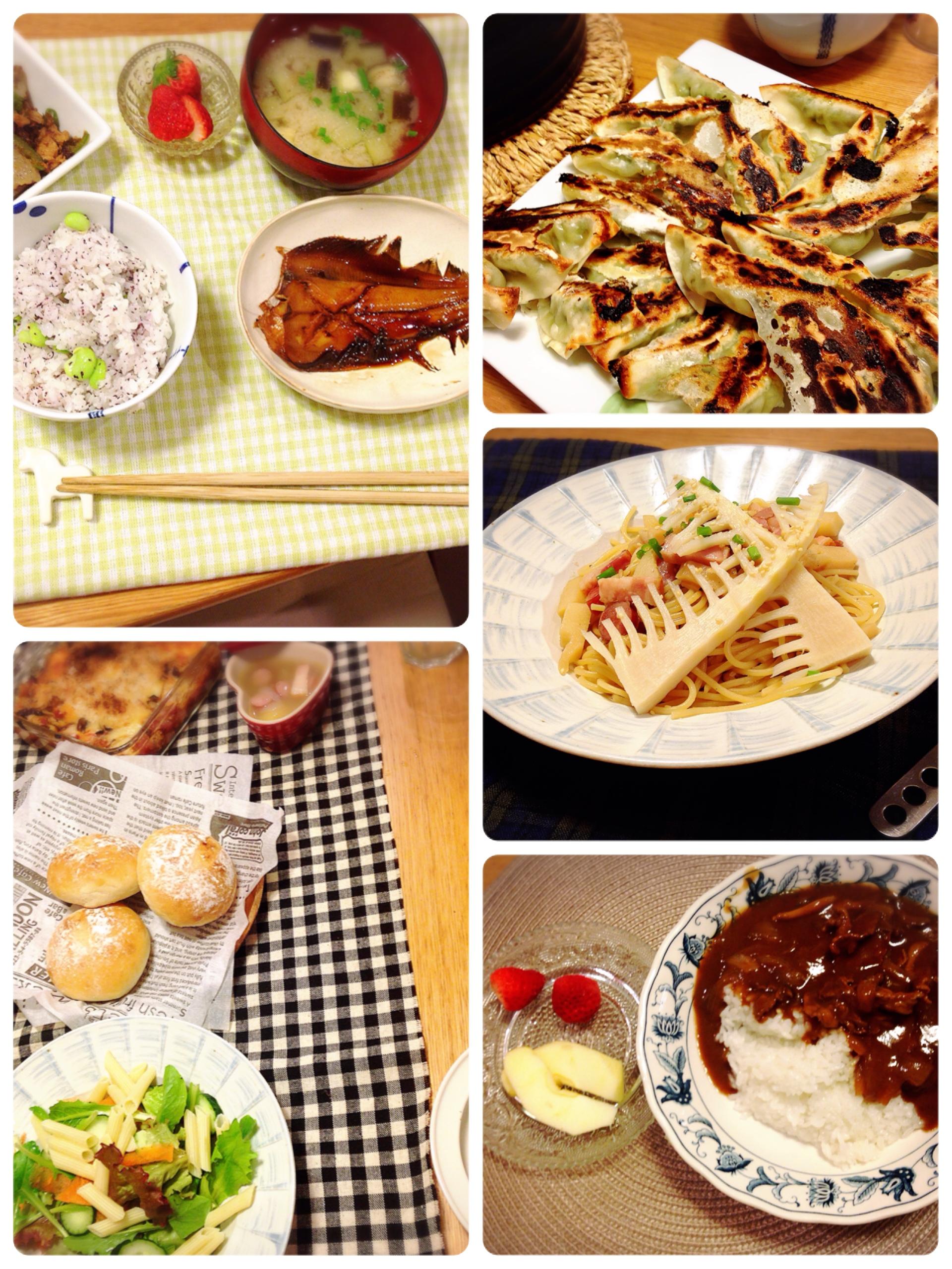 一週間のごはん 4/17~4/21 主婦達よ、一品料理を味方につけよ!