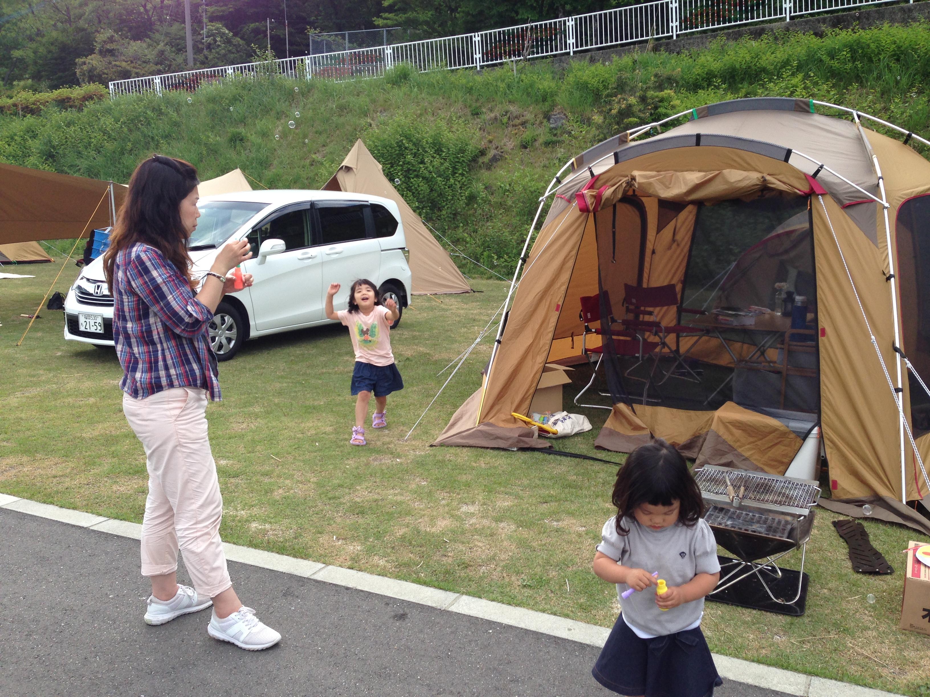 初心者ファミリーキャンプ1泊2日のスケジュールはこんな感じでした。