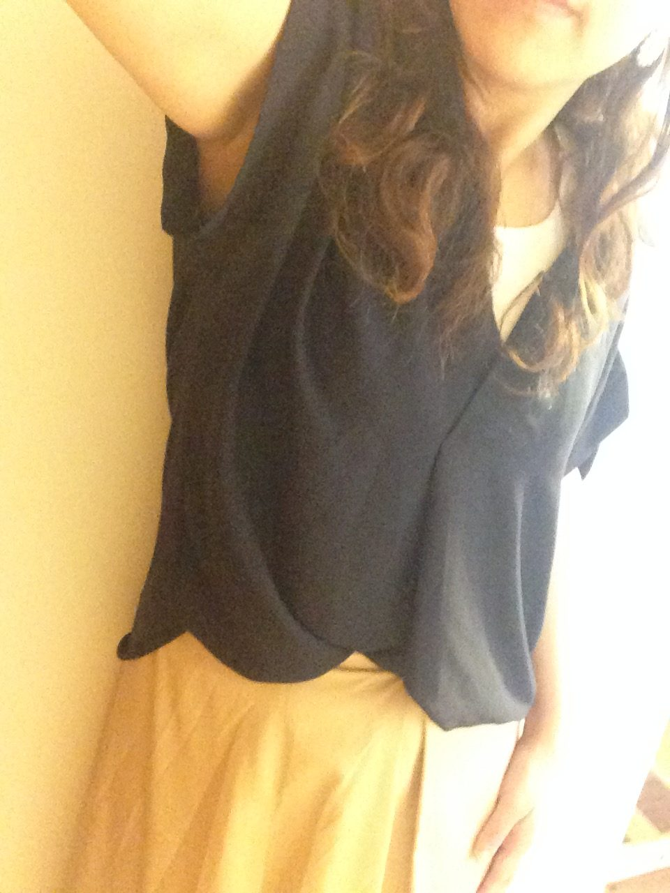 30代ママコーデ プチプラシャツ×キレイめスカート
