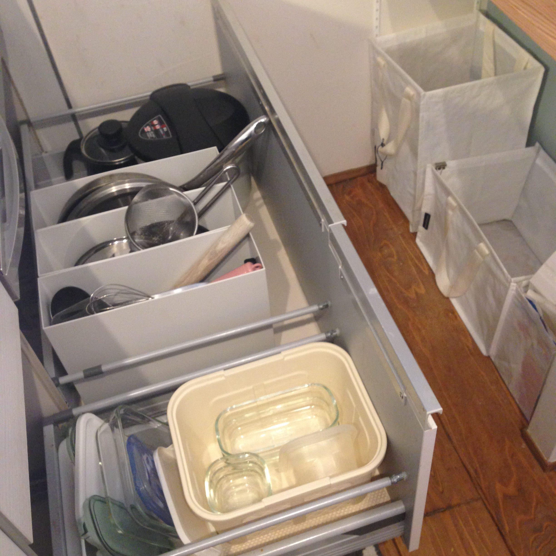 【キッチンコンロ下収納】家事効率UP!無印ファイルボックスを活用し仕切る&立てる収納。