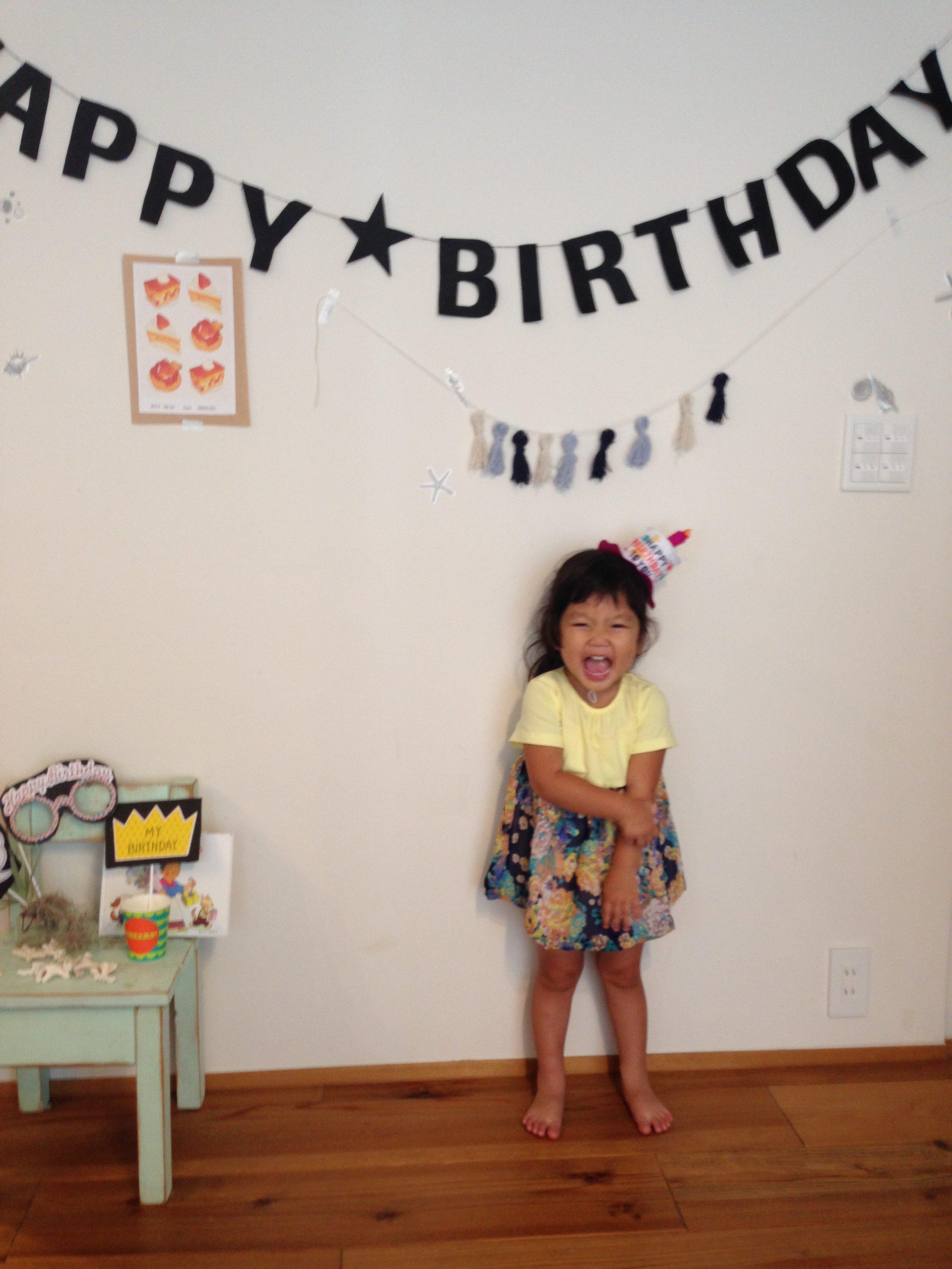 3歳、誕生日パーティのヒトコマ。